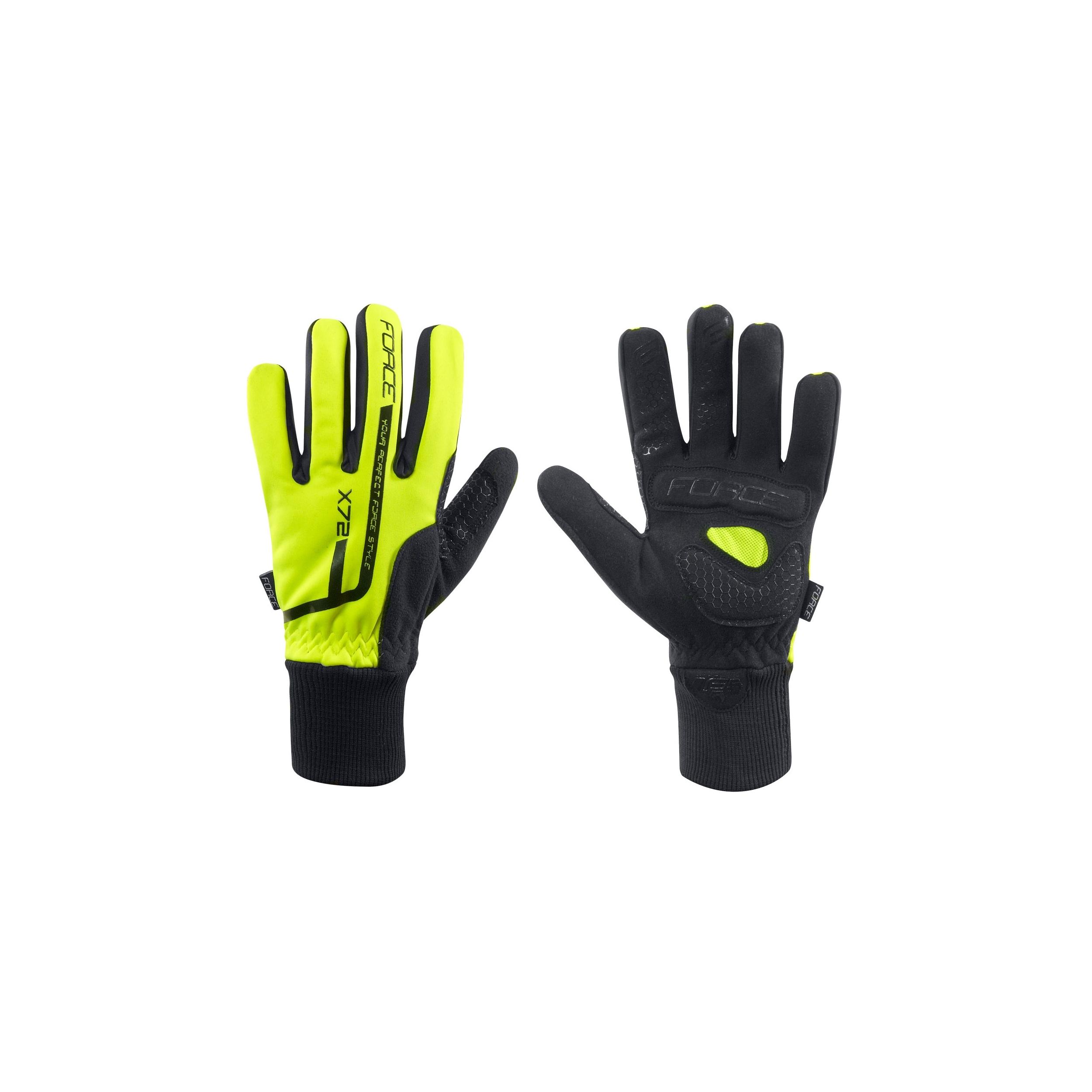 60b2eeb95b4 Zimní cyklistické rukavice zimní FORCE X72