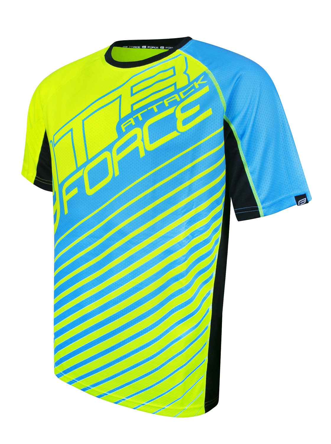 Dres FORCE MTB ATTACK, fluo-modrý XL