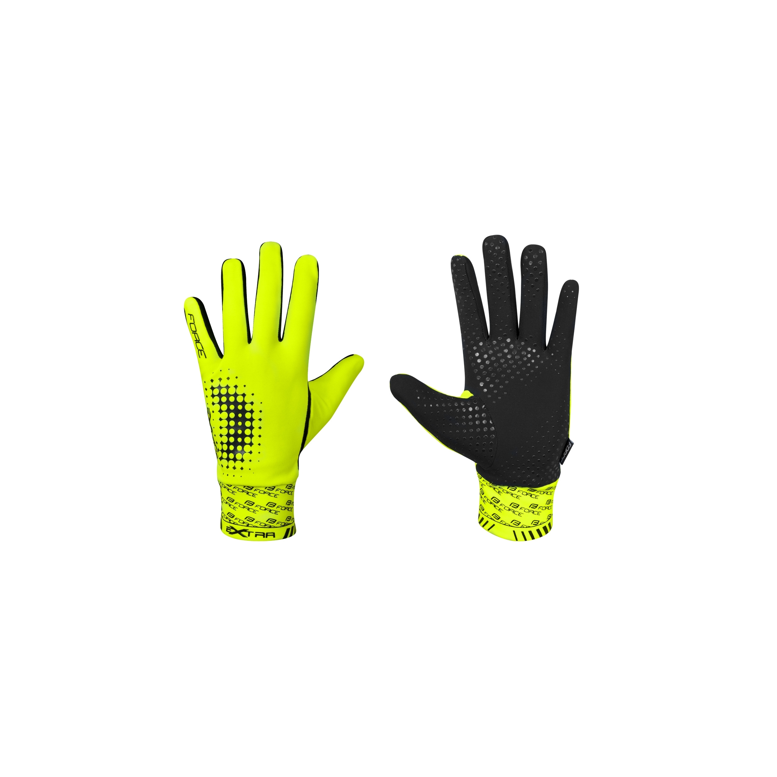 Rukavice FORCE EXTRA, fluo XS