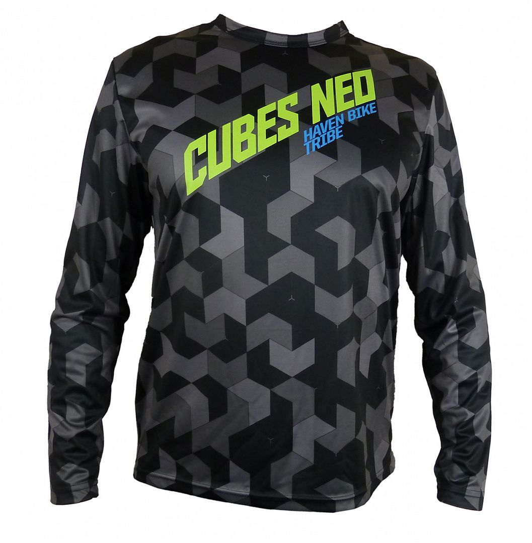 Volný dres HAVEN CUBES NEO Long black/green, vel. 3XL