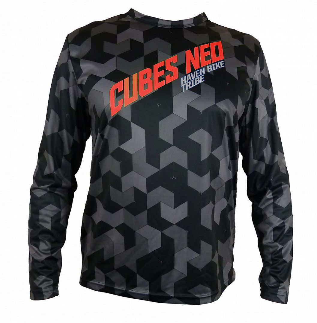 Volný dres HAVEN CUBES NEO Long black/red, vel. 3XL