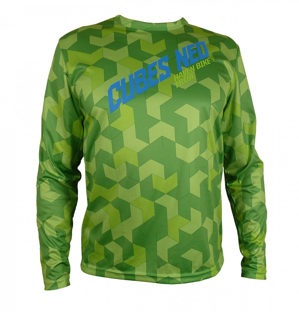Volný dres HAVEN CUBES NEO Long green, vel. 3XL