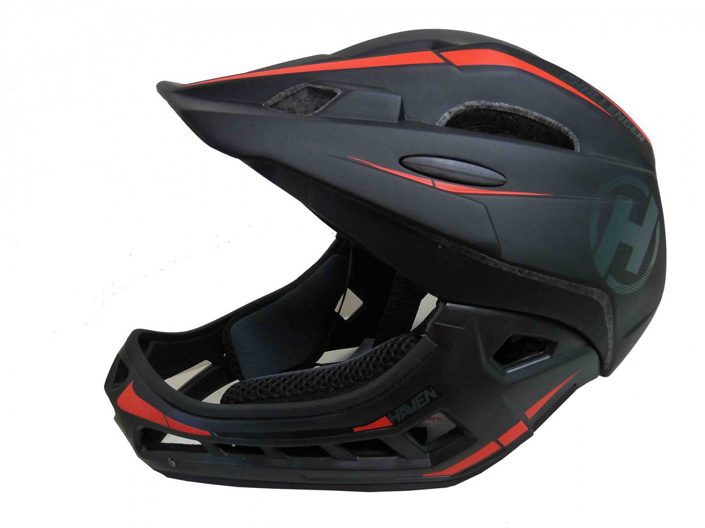 Přilba HAVEN CHALLENGER black/red, vel. S/M