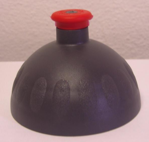 Náhradní víčko komplet Zdravá lahev - antracit-červené (Náhradní víčko pro Zdravou lahev, barva antracit-červená zátka)