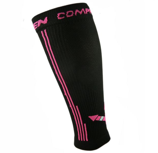 Kompresní návleky HAVEN Compressive Calf Guard EvoTec black/pink - MIDDLE COMPRESSION, vel. M