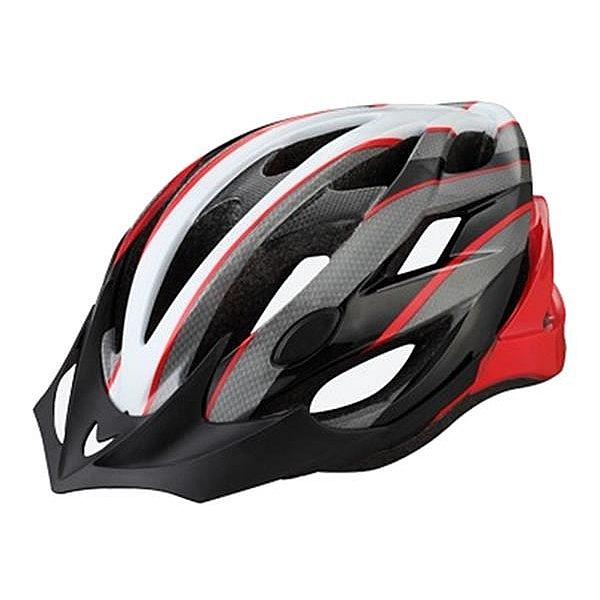 NEXELO cyklistická přilba CERES bílo/šedo/červená L 58-61 cm 2016