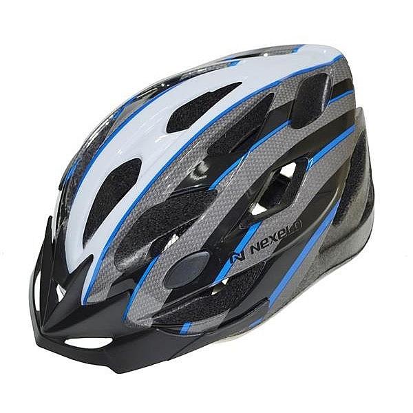 Cyklistická přilba NEXELO CERES šedo/modro/bílá