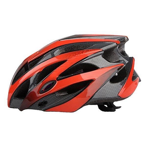 NEXELO Cyklistická přilba DEIMOS červeno/černá L 58-61 cm 2016