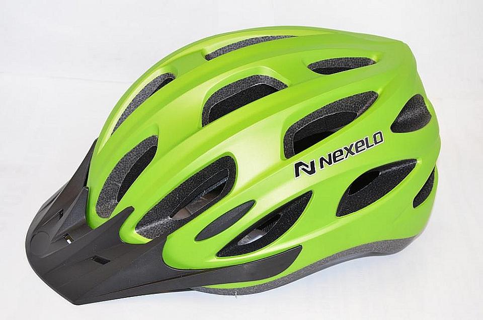 NEXELO Cyklistická přilba FROGY vel. L 58-62 cm zelená 2016