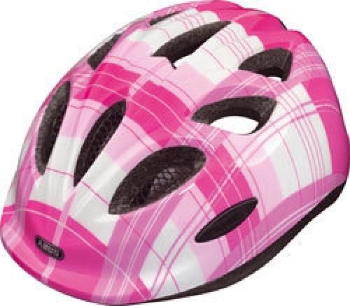 """Dětská cyklistická přilba / helma ABUS Smiley SQUARE M (Velikost """"M"""" pro obvod hlavy 50-55 cm, barva růžovo/fialová) - 2013"""