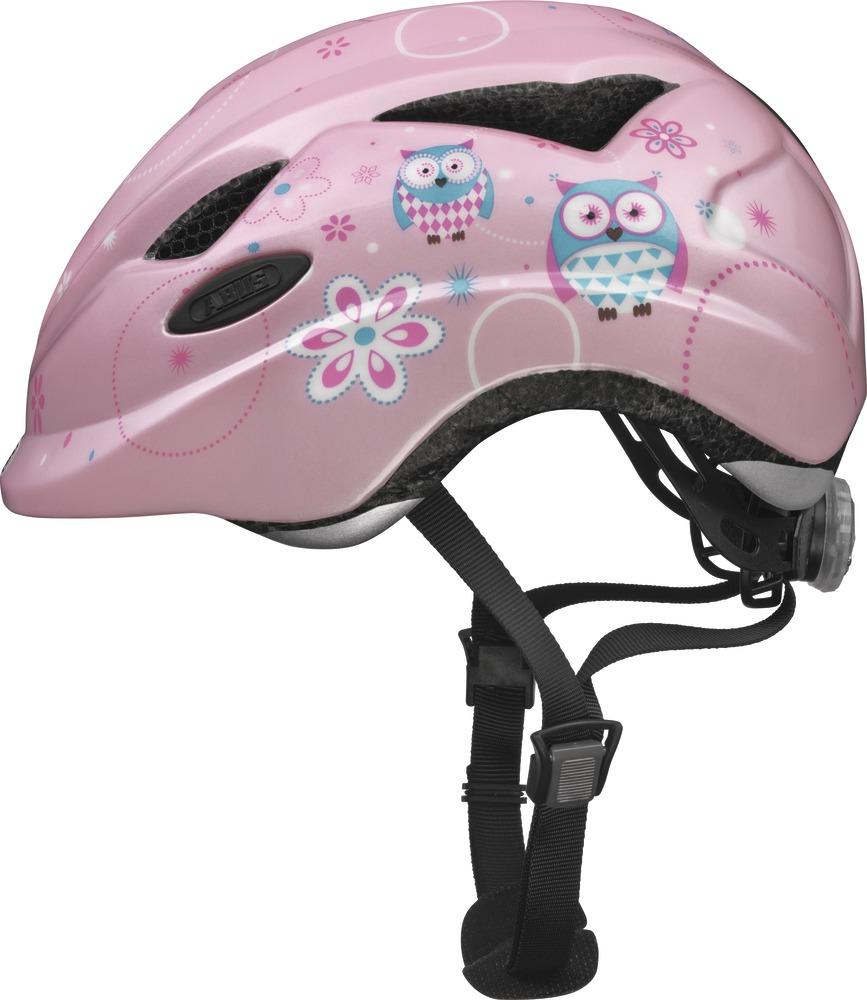 """Dětská cyklistická přilba-helma ABUS Anuky Rose owl, vel. M (Velikost """"M"""" pro obvod hlavy 52-57 cm, barva růžová) - 2013"""
