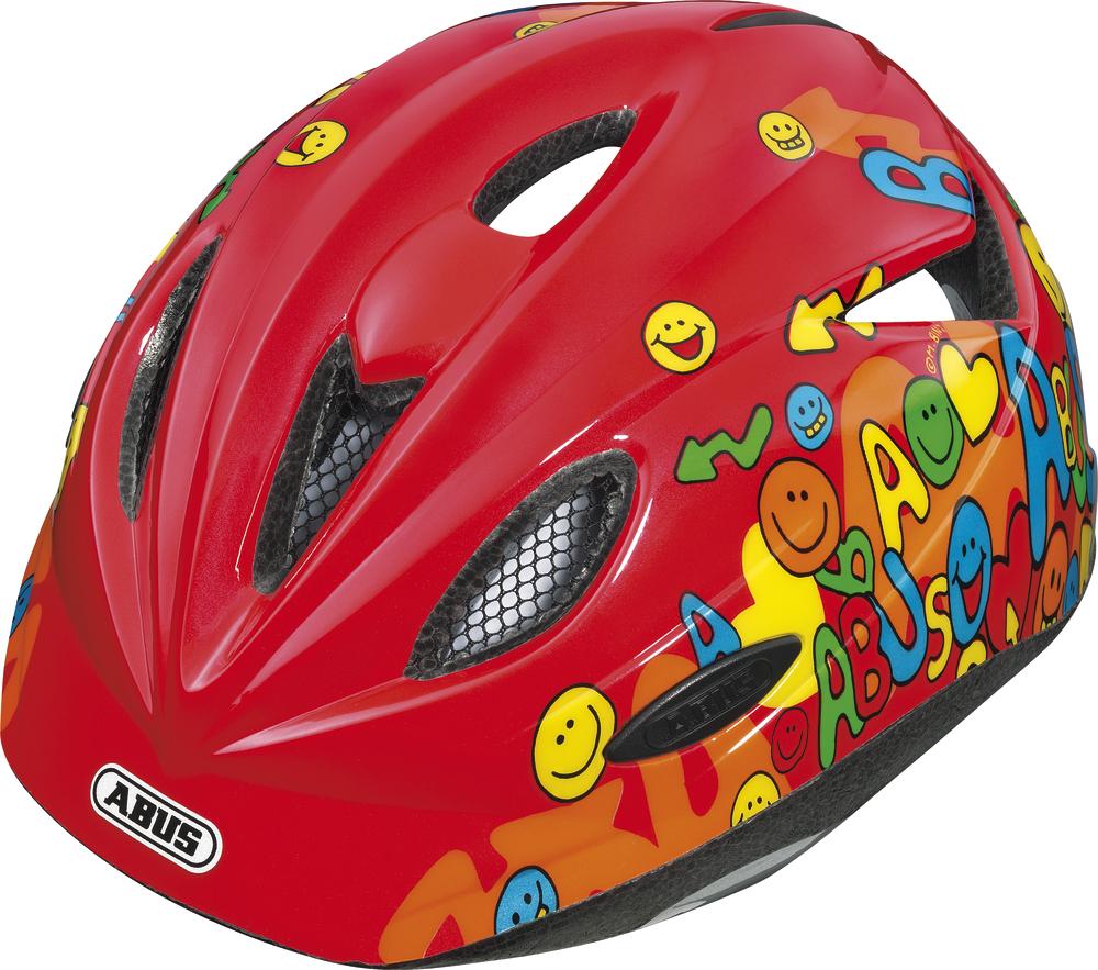 """Dětská cyklistická přilba / helma ABUS Rookie Red (Velikost """"M"""" pro obvod hlavy 52-57 cm, barva červená) - 2013"""