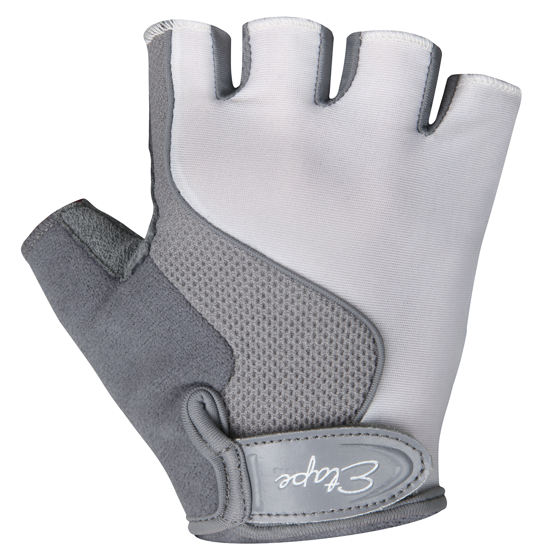Dětské cyklistické rukavice ETAPE Simple, vel. 9-10, bílá/šedá, model 2017 (Dětské cyklistické rukavice )