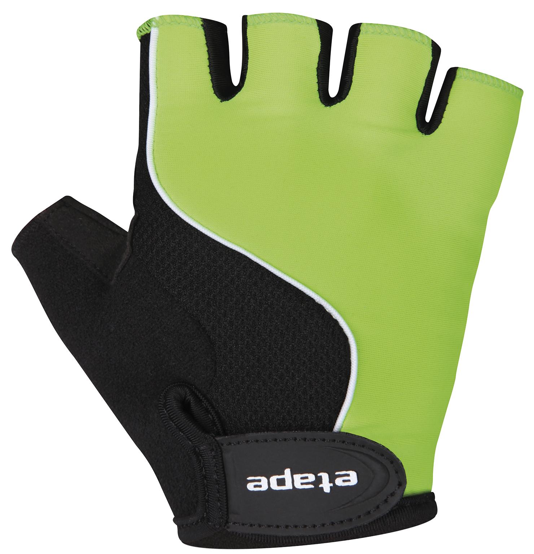 Dětské cyklistické rukavice ETAPE Simple, vel. 11-12, zelená/černá, model 2017 (Dětské cyklistické rukavice )