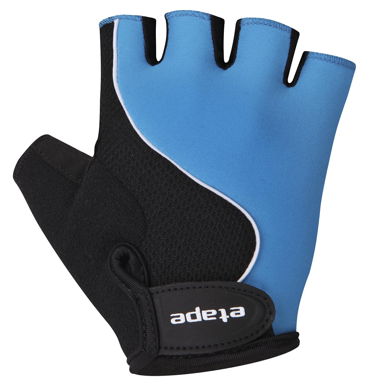 Dětské cyklistické rukavice ETAPE Simple, vel. 11-12, modrá/černá, model 2017 (Dětské cyklistické rukavice )