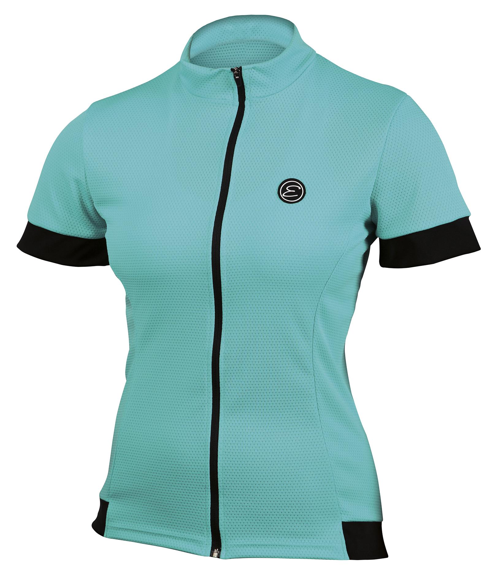 Dámský cyklistický dres ETAPE Donna, vel. L, aqua, model 2017 (Dámský dres Etape, dlouhý přední zip)