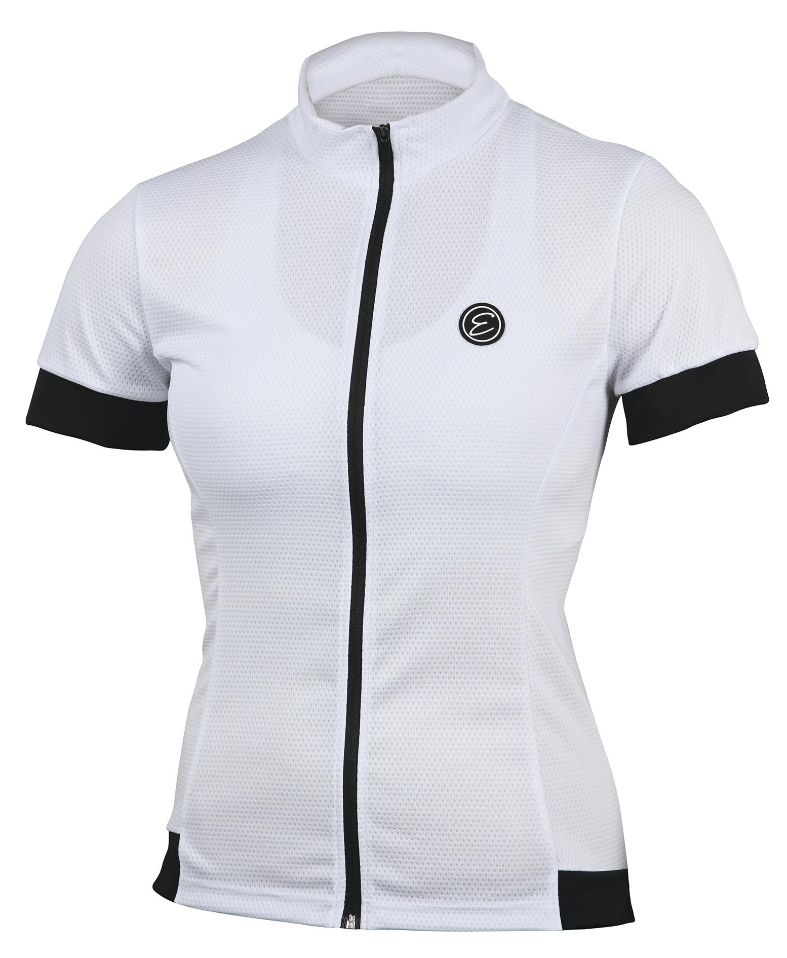 Dámský cyklistický dres ETAPE Donna, vel. L, bílá, model 2017 (Dámský dres Etape, dlouhý přední zip)