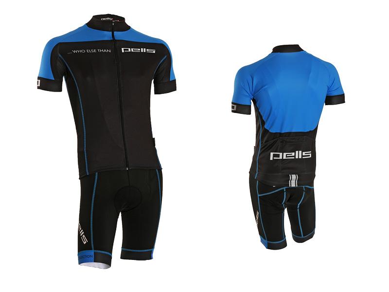 Pánský dres PELL'S WHO ELSE, vel. L, modrá, krátký rukáv (Pánský cyklistický dres PELL'S, vel. L, krátký rukáv, barva modrá dle vyobrazení!)