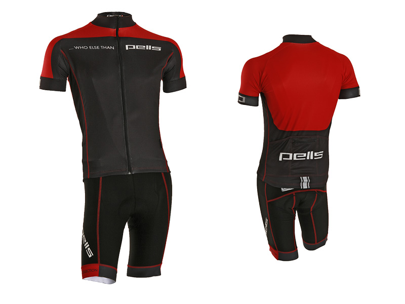 Pánský dres PELL'S WHO ELSE, vel. L, červená, krátký rukáv (Pánský cyklistický dres PELL'S, vel. L, krátký rukáv, barva červená dle vyobrazení!)