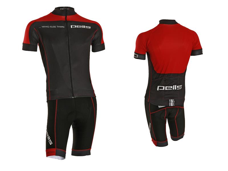 Pánský dres PELL'S WHO ELSE, vel. XL, červená, krátký rukáv (Pánský cyklistický dres PELL'S, vel. XL, krátký rukáv, barva červená dle vyobrazení!)