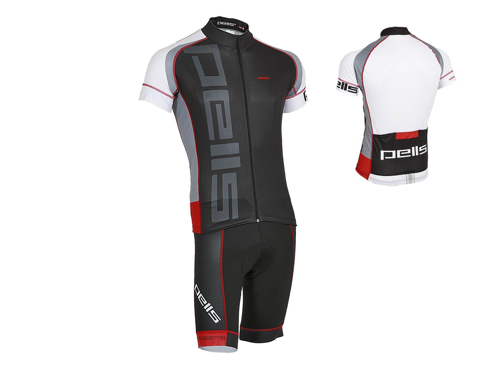 Pánský dres PELL'S RAZZER, vel. XL, červená, krátký rukáv (Pánský cyklistický dres PELL'S, vel. XL, krátký rukáv, barva červená dle vyobrazení!)