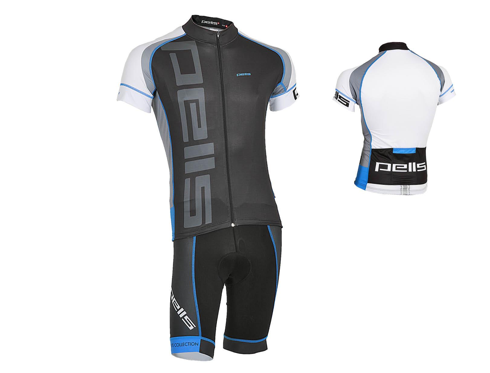 Pánský dres PELL'S RAZZER, vel. L, modrá, krátký rukáv (Pánský cyklistický dres PELL'S, vel. L, krátký rukáv, barva modrá dle vyobrazení!)
