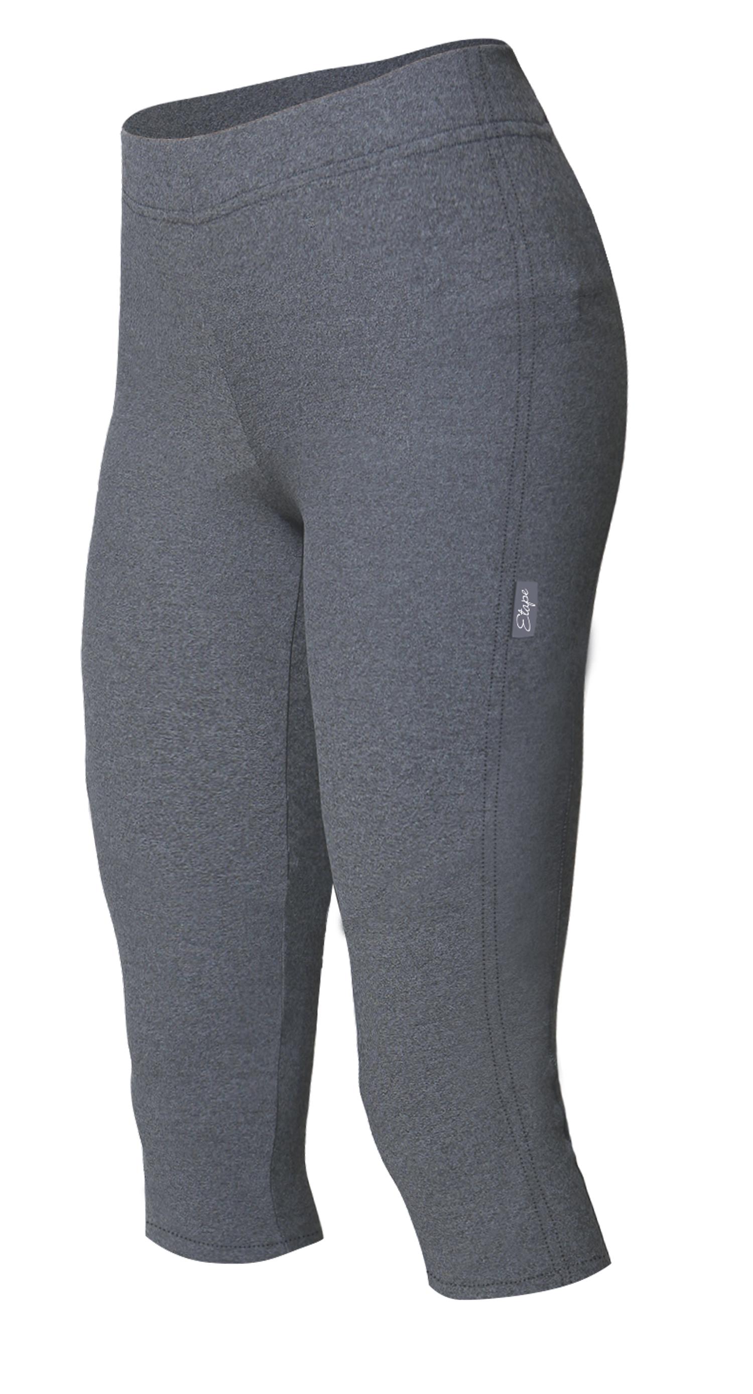 Dámské cyklistické kalhoty ETAPE Lady 3/4, vel. M, šedá, s vložkou, model 2017 (Dámské cyklistické kalhoty Etape, s dámskou elastickou vložkou )
