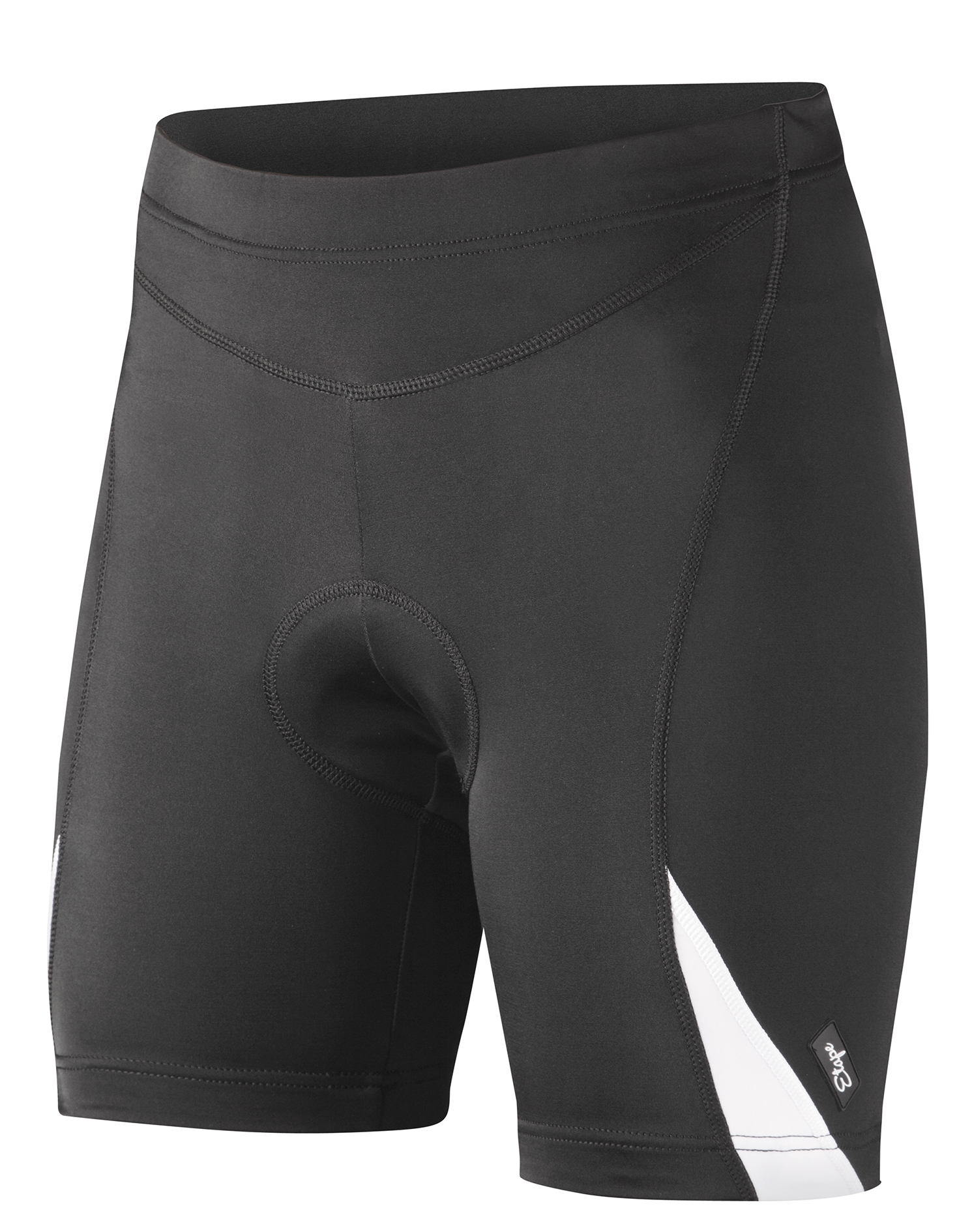 Dámské cyklistické kraťasy ETAPE Natty, vel. XL, černá/bílá s vložkou model 2017 (Dámské cyklistické kraťasy Etape, s dámskou elastickou vložkou )