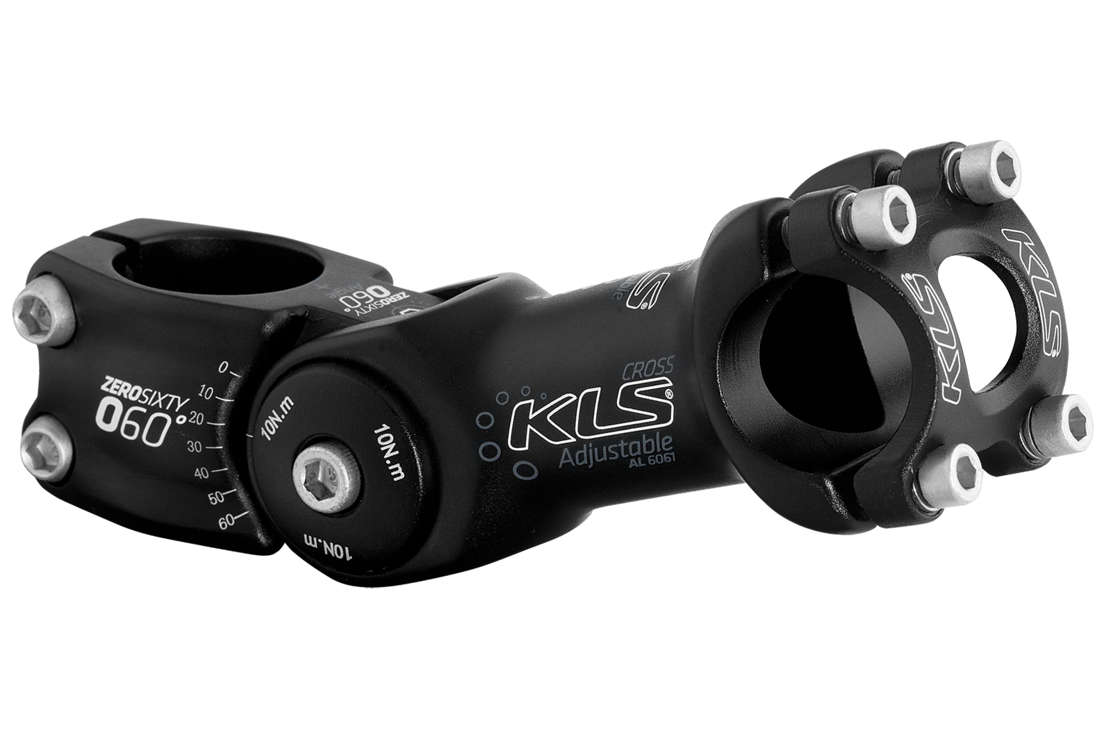 Představec KLS CROSS black, Oversize 31.8mm, 95mm