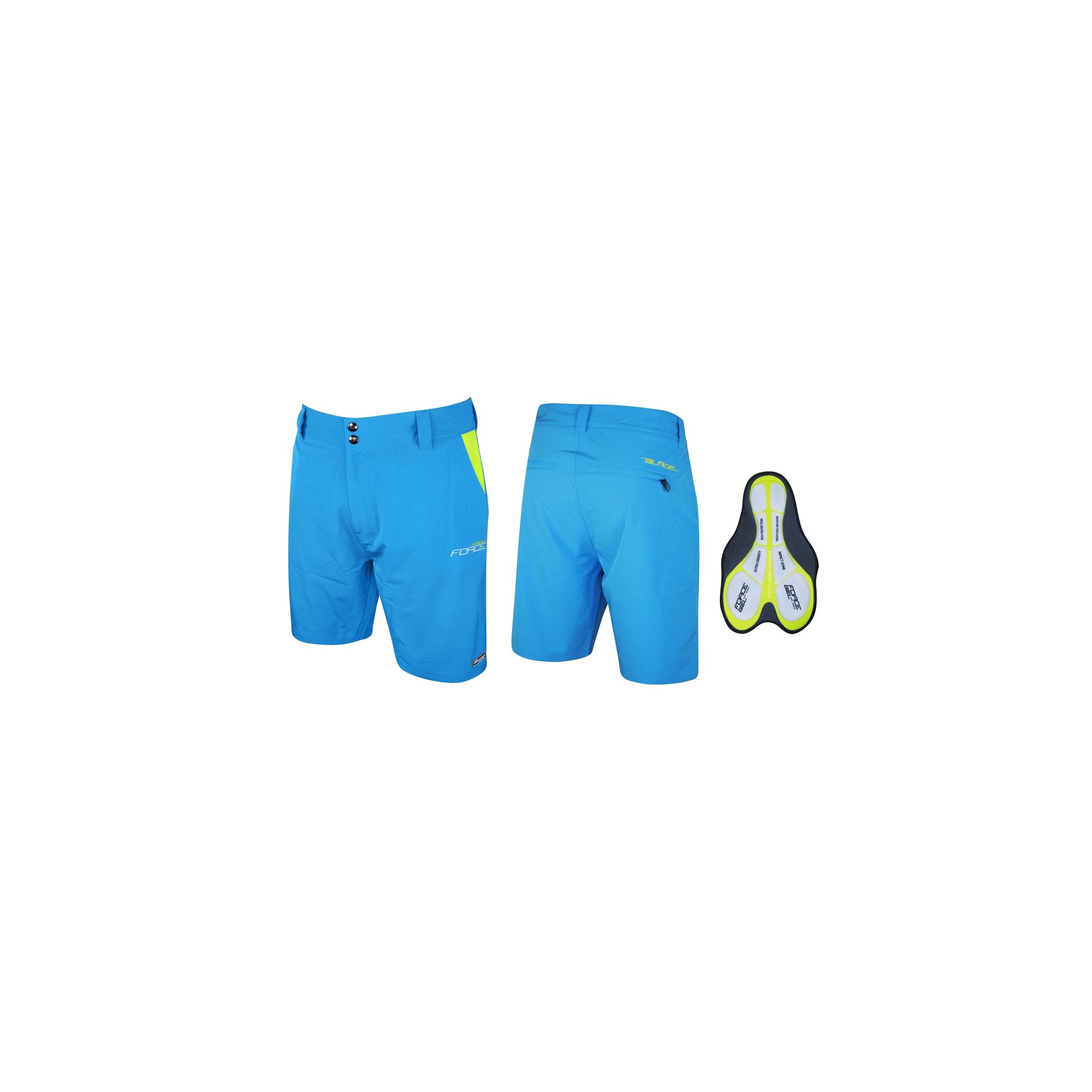 Kraťasy F BLADE MTB s odnímatelnou vložkou,modré XS