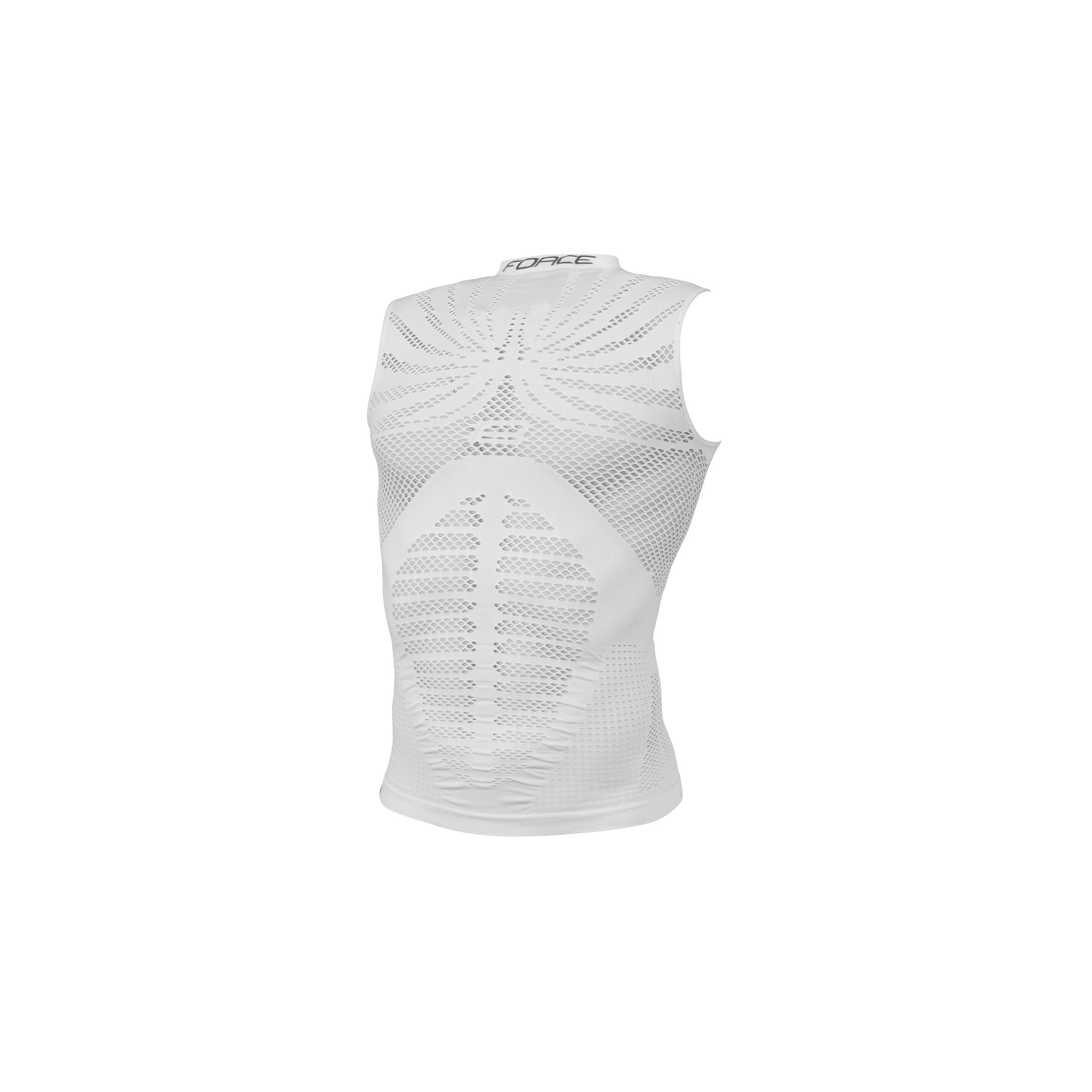 Triko/Funkční prádlo FORCE HOT bez rukávů, bílé L-XL