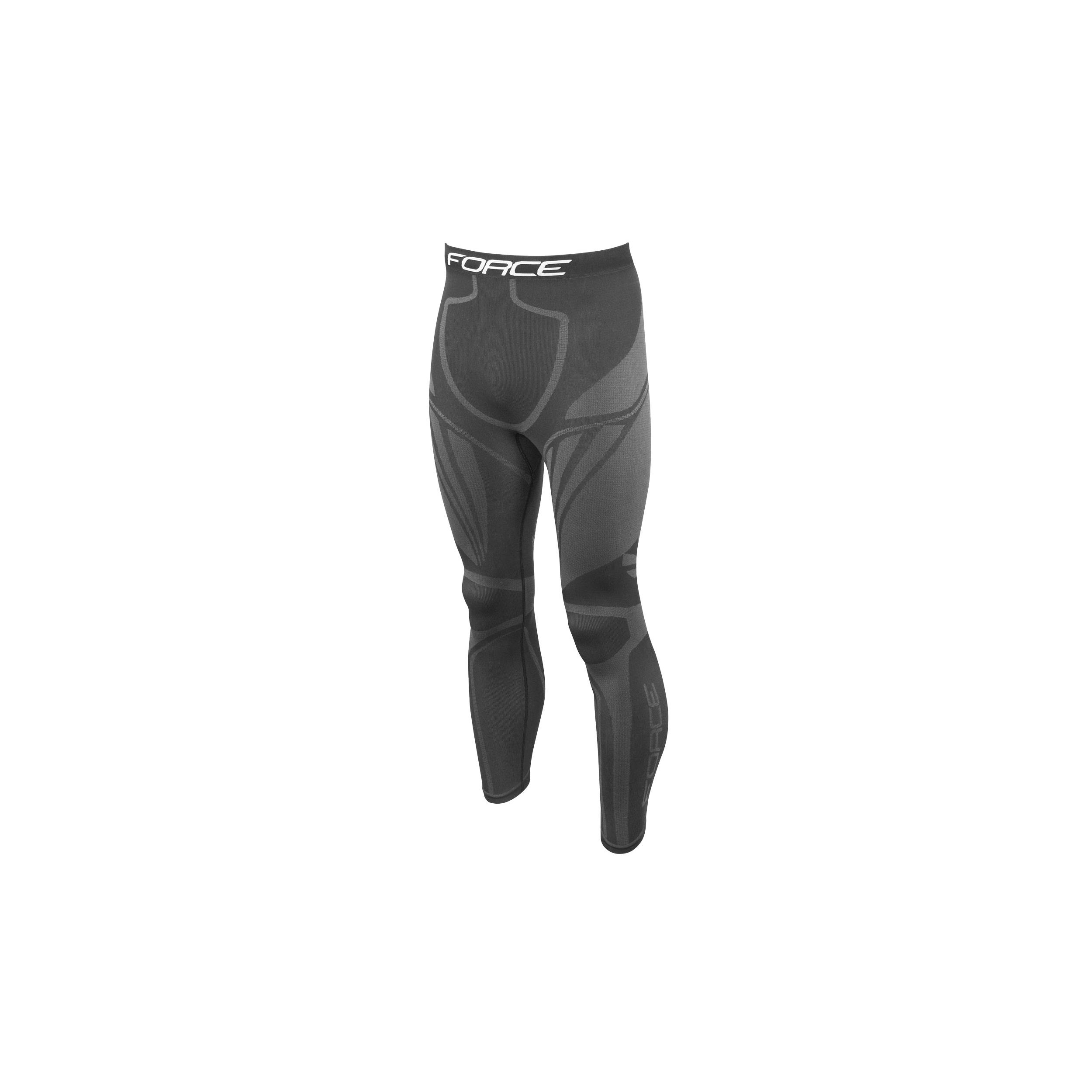 Kalhoty/Funkční prádlo FORCE FROST, černé L-XL