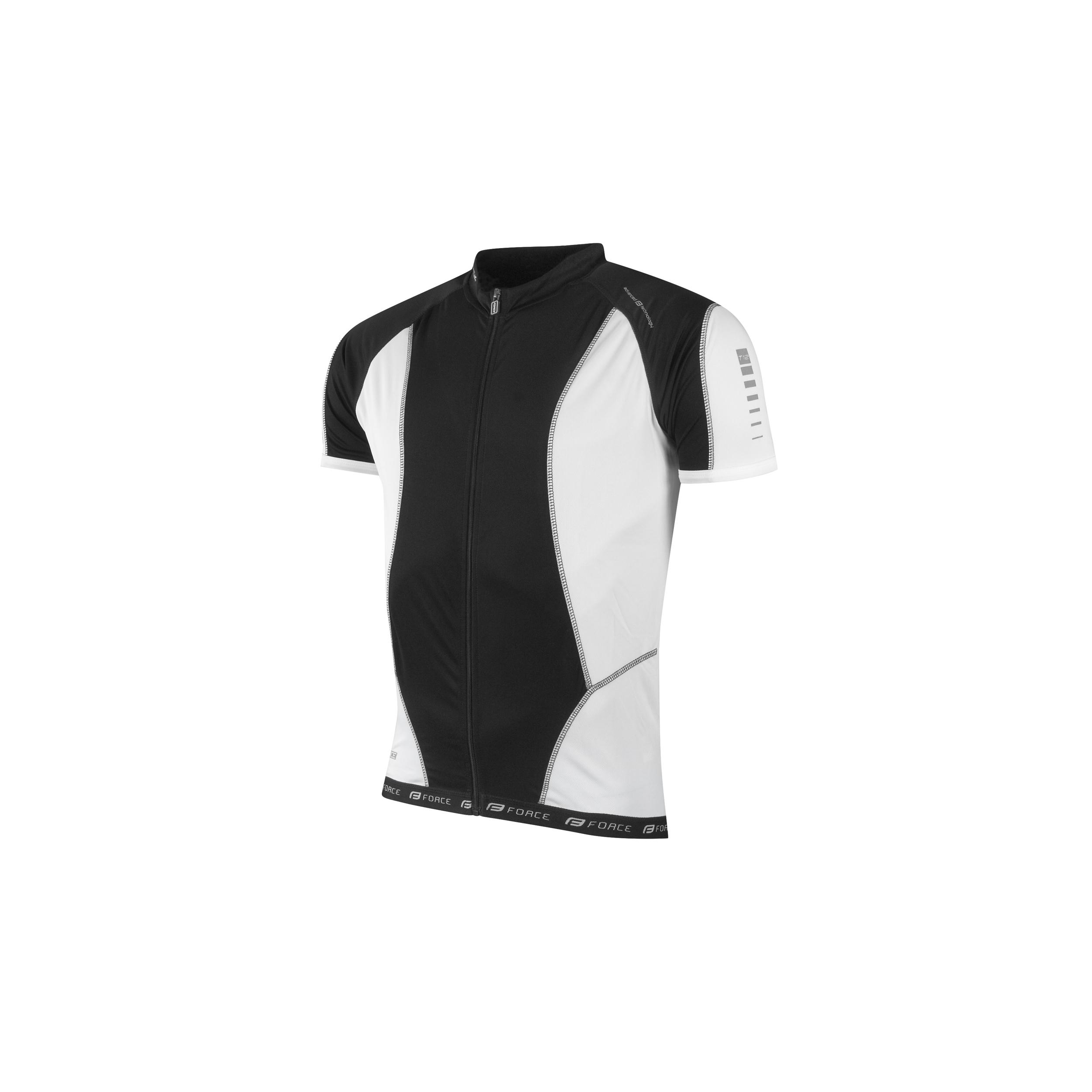 8665e16cc5d Dres FORCE T12 krátký rukáv černo-bílý XXL