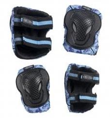 Chrániče kolen a loktů Micro - vel. M, modro-černé (chrániče kolen a loktů MICRO)