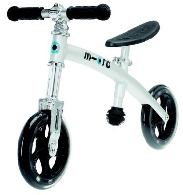 Odrážedlo - odstrkovadlo Micro G-bike+ light alu- ZDARMA dopravné a lahev 0,5 l (barva stříbrná dle vyobrazení, varianta bez brzdy)