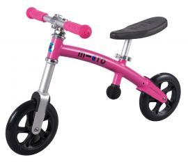 Odrážedlo - odstrkovadlo Micro G-bike+ light pink-ZDARMA dopravné a lahev 0,5 l (barva růžová dle vyobrazení, varianta bez brzdy)