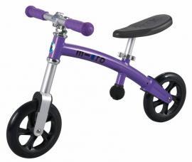 Odrážedlo-odstrkovadlo Micro G-bike+ light purple-ZDARMA dopravné a lahev 0,5 l (barva purpurová dle vyobrazení, varianta bez brzdy)