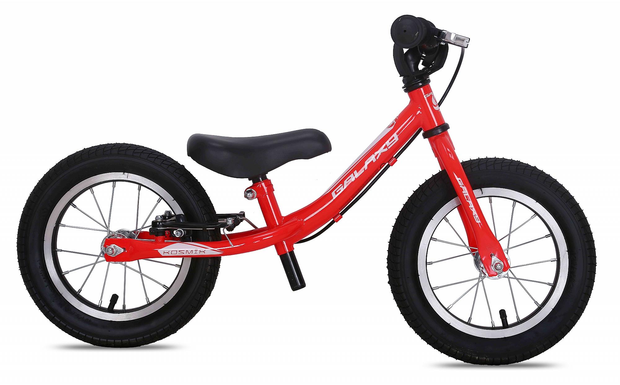 Odrážedlo GALAXY KOSMÍK červená 2017, ZDARMA dopravné! (barva červená, s brzdou, nafukovací pneu)
