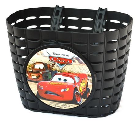 Přední plastový košík Cars, černý (dětský košík na řidítka, plastový)