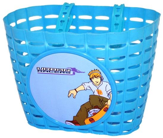Přední plastový košík SKATE, modrý (dětský košík na řidítka, plastový)