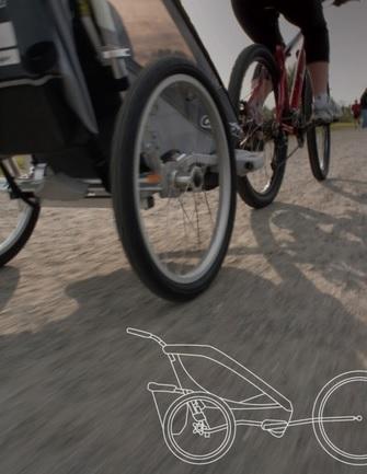 CTS Chariot Cyklistický set AXLE (pro vozíky CHARIOT, bike set)