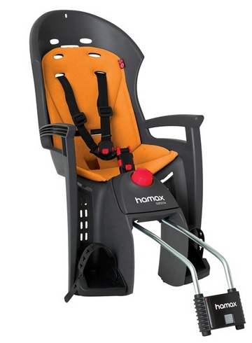 Hamax SIESTA dětská polohovací cyklosedačka - ZDARMA reflexní pásek (dětská zadní polohovací sedačka na kolo)