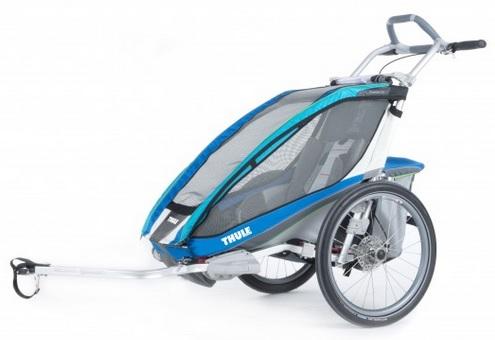 THULE CHARIOT CX 1 blue, 2014 - ZDARMA dopravné, bike set a 2000,- Kč navrch (Dětský vozík za kolo - cyklovozík, model 2014 - záruka nejnižší ceny)