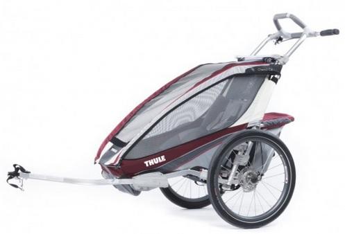 THULE CHARIOT CX 1 burgundy, 2014 - ZDARMA dopravné, bike set a 2000,- Kč navrch (Dětský vozík za kolo - cyklovozík, model 2014 - záruka nejnižší ceny)