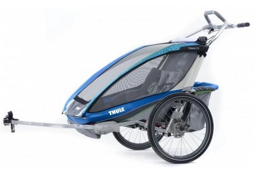THULE CHARIOT CX 2 blue, 2014 - ZDARMA dopravné, bike set a 3000,- Kč navrch (Dětský vozík za kolo - cyklovozík, model 2014 - záruka nejnižší ceny)