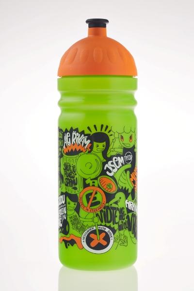 Zdravá lahev - 0,7l STREET ART (zeleno-oranžová - dle vyobrazení)