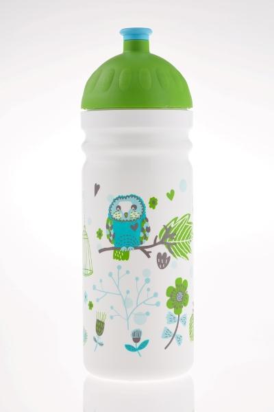 Zdravá lahev - 0,7l SOVY (bílo-zelená - dle vyobrazení)
