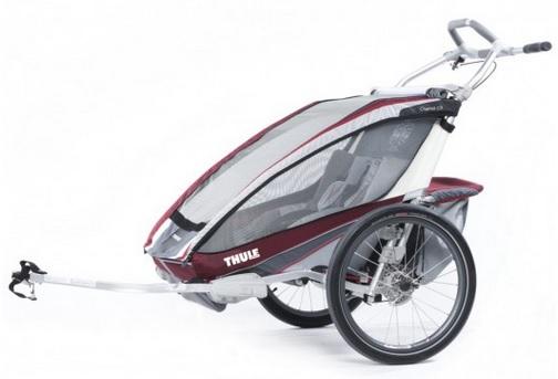 THULE CHARIOT CX 2 burgundy, 2014 - ZDARMA dopravné, bike set a 3000,- Kč navrch (Dětský vozík za kolo - cyklovozík, model 2014 - záruka nejnižší ceny)