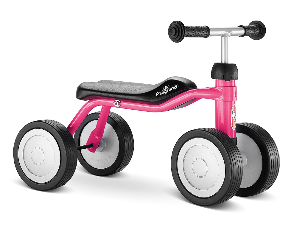 Odrážedlo PUKY Pukylino růžové - ZDARMA dopravné a reflexní vesta (čtyřkolové odrážedlo, odstrkovadlo, barva růžová)