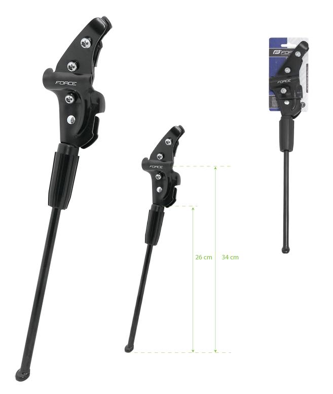 """Stojan Force Lux 26"""", na zadní vidlici, AL provedení, barva černá (Stojánek pro kola 26"""")"""